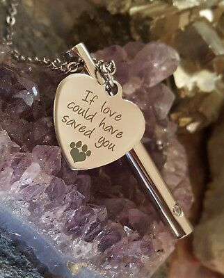 Stainless Steel Pet Cremation Jewelry | Pet Loss | Pet Ash Urn | Paw Print Urn