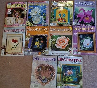 10 Folk Art & Decorative Painting Magazines Patterns
