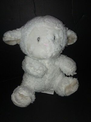 Little Miracles Lamb Sheep Missing Security Blanket Plush White Gray Costco Baby