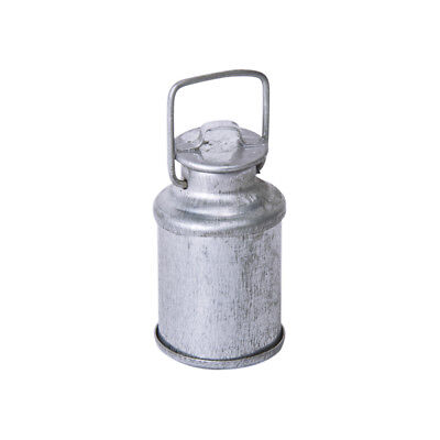 Vintage 1/12 Dollhouse Miniature Milk Can Bottle with Lid Silver