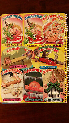 Vintage Collection of Garbage Pail Stickers in Sticker Book.