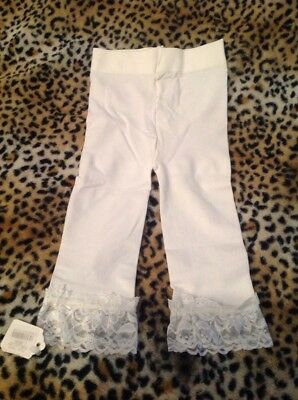 Baby Girl's Ivory Lace Footless Tights ~ Size 0-24 Months NWT
