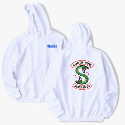 US Stock Unisex Southside Serpents Mens Funny Riverdale TV Show Hoodie Programme