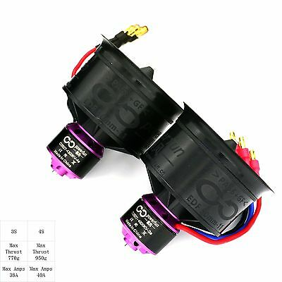 Powerfun EDF 50mm 11 blades 4s/4300kv motor ducted fan for rc jet model airplane