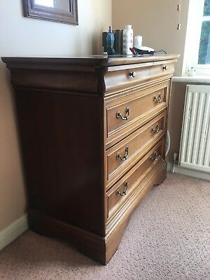 Large Antique Edwardian Mahogany Chest of Drawers