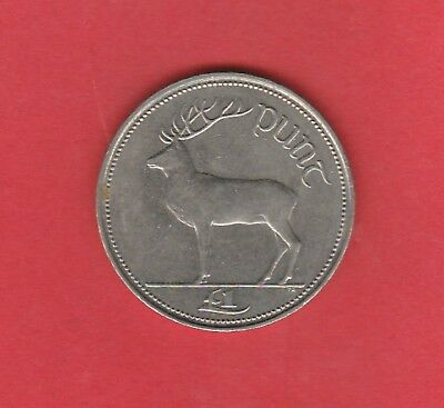 1990 Ireland Republic X1 Coin  , Punt (Pound) Circulated