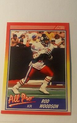 Trading Card NFL Rod Woodson Pittsburgh Steelers Score 1990