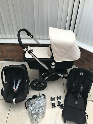 Bugaboo Cameleon 3 Black Off White With Car Seat POST WITHIN EU