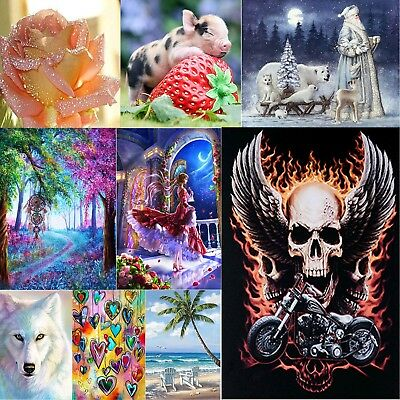 5D DIY Diamond Painting Embroidery Cross Craft Stitch Home Wall Art Decor +Tools