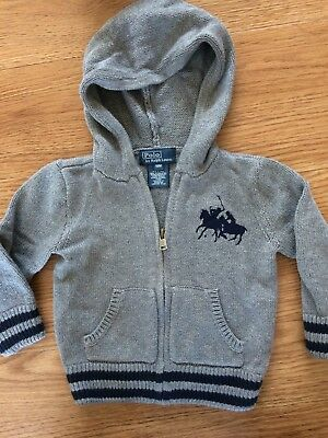 polo by ralph lauren Baby Boys Hooded Jumper 18m