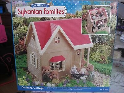 Sylvanian Families, Orchard Cottage, In box, Red and white,Vintage toy