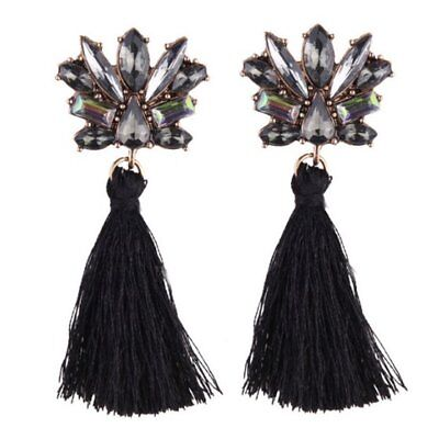 Bohemian Wedding Tassel Dangle Earring Women Fringed Statement Earrings Bla P5E6