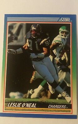 Trading Card NFL Leslie O´Neal San Diego Chargers Score 1990