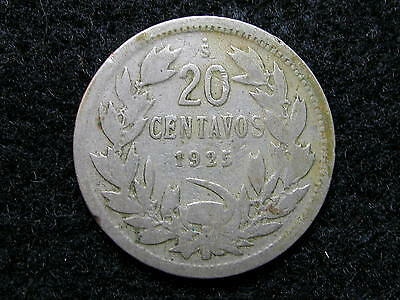 CH-1: CHILE, 20 CENTAVOS dated 1925