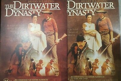 The Dirtwater Dynasty Rare Deleted Dvd Australian Tv Mini-Series Hugo Weaving