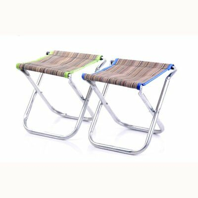 Portable Aluminum Folding Chair Stool Seat Outdoor Fishing Camping Picnic P U2A9