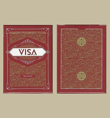 VISA Playing Cards - Red - New