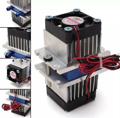 12V Thermoelectric TEC1-12706 Peltier Water Pipe Cooling System DIY Kit 8mm Pipe