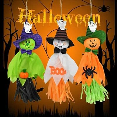 Halloween Hanging Ghost Decoration Garlands Cloth Ghost Halloween Party Props B