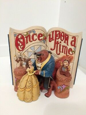 Disney Jim Shore Belle Beauty & Beast Storybook Figurine with Lumiere Cogsworth
