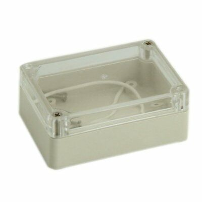 3X(85x58x33mm Waterproof Clear Cover Plastic Cable Project Box Enclosure Ca N5W2