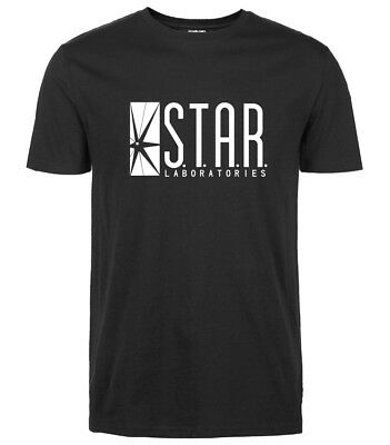 2019 Cotton Men T-shirts The Flash Star Laboratories S.T.A.R Labs Logo T-shirts