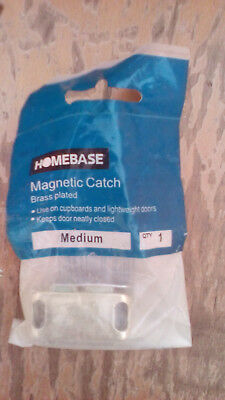 Homebase Magnetic Catch, brass plated