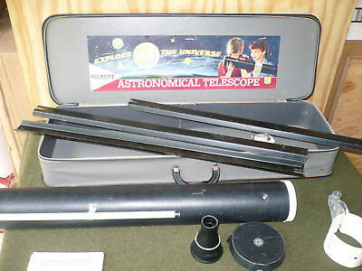 Gilbert vintage toy telescope used in box table model some wear
