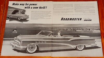 Beautiful 1953 Buick Roadmaster Convertible Big Ad - Vintage Classic American