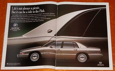 1992 Buick Park Avenue In Gold Color Superb Ad - Retro American Luxury 1990S