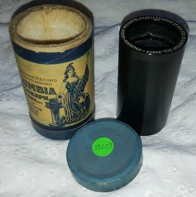 Rare Uncle Josh on Columbia Cylinder Record for Edison Players - Minty Clean!