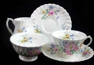 Royal Doulton ARCADIA 4 Piece Assortment Vintage Backstamp H4802 GOOD CONDITION