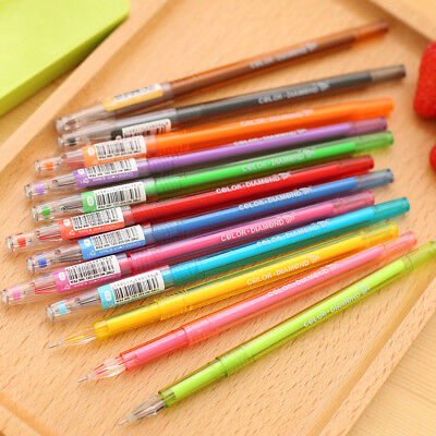 Candy Color Diamond Gel Pen refill School Supplies Draw Colored Student Gift CA