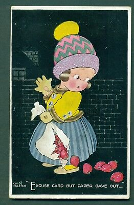 EXCUSE CARD BUT PAPER GAVE OUT BY CHLOE PRESTON,vintage postcard