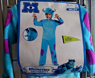 Halloween Costume Disney Monsters University Sulley Size 3T-4T NWT Disguise