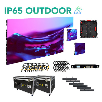 NEW 8-FT x 5-FT IP65 WEATHERPROOF P4 OUTDOOR LED VIDEO WALL 15 PANEL PACKAGE