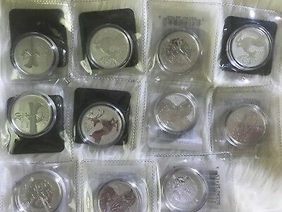 Lot of 12 $20 Dollar Canadian Silver Coins *fine silver (99.99% pure)* SOLD OUT
