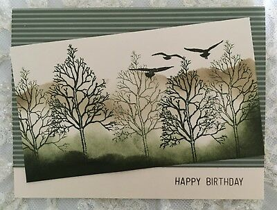 Handmade Mistytrees Masculine Birthday Card Nature Forest 375