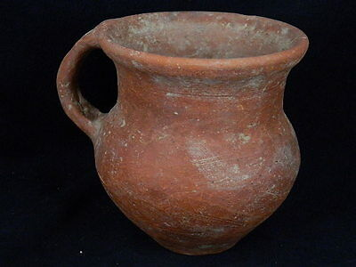 Ancient Large Size Teracotta Juglet Roman 200 BC NO RESERVE #SG2546