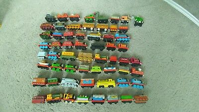 Read detail Vintage metal & wood Thomas the train w/ the Isle of Sodor track set