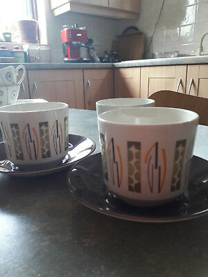 Lunar by Beswick Cups and Saucers