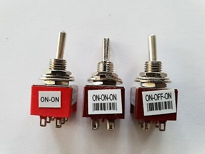 Guitar mini switch ON ON, ON OFF ON or ON ON ON new