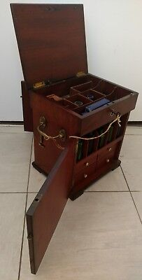 19th century Portable apothecary chest Mahogany, stunning condition!