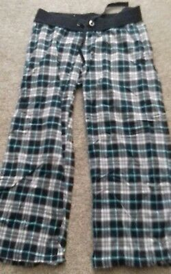 Womans grey checked New Look Maternity Pyjama bottoms size 16