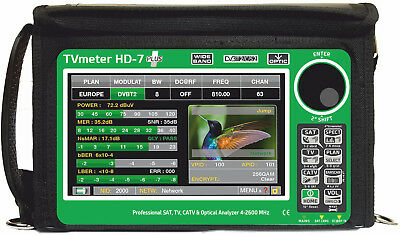 TVmeter HD-7 Plus   Touch DOLBY T2S2C,Combined STC HD Analyzer,Digital HD Bild