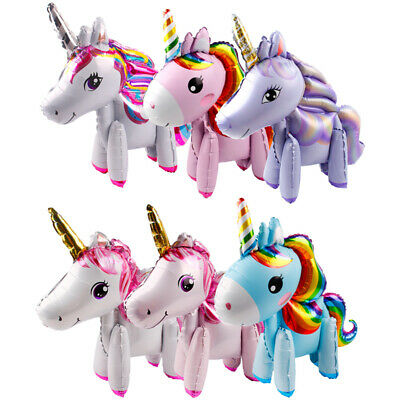 Unicorn Foil Modelling Balloon Walking Ballons Baby Shower Birthday Party Decor