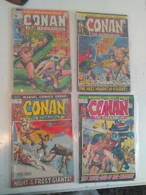 Conan the Barbarian lot, #7, 15-61, first Red Sonja! Most books in FN or better