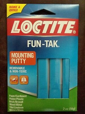 LOCTITE FUN-TAK Mounting Putty, Blue, 2 oz Package, Removable & Non Toxic