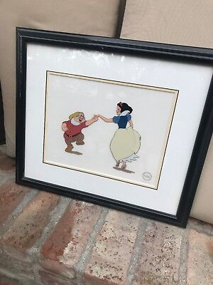 "Walt Disney ""Snow White and Doc"" Sericel Limited Edition Size 5,000"