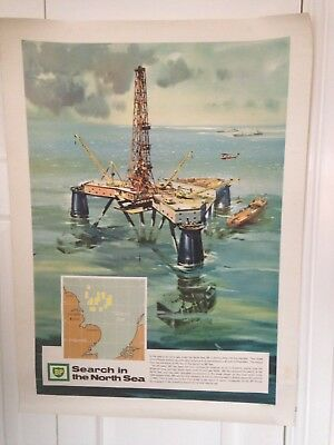 Vintage BP Search In The North Sea Poster